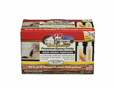 J-B Weld 40005 Wood Restore Premium Epoxy Putty Kit - 12 oz