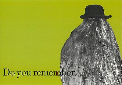 """Cousin It Addams Family Do you Remember Green Advertisement Postcard 6x4"""""""