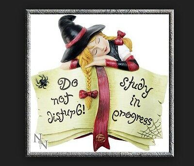 *DO NOT DISTURB STUDY IN PROGRESS* Lil' Witches Resin Wall Plaque By Lisa Parker