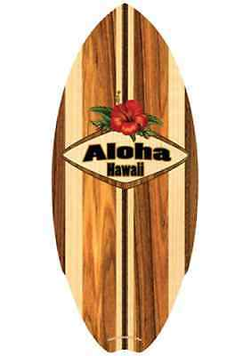 Hawaiian Wood Mini Surfboard Surf Hawaii Island Home Tiki Luau Decor 8.5 x 20 NB