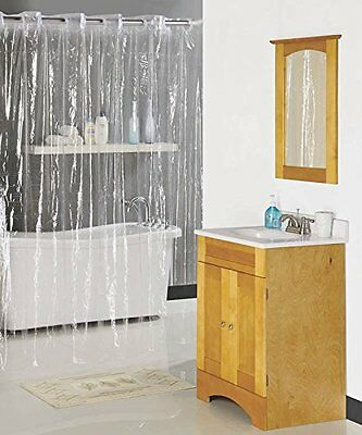Shower Curtain Hookless 70x72 Clear