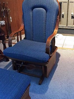 Baby Nursery Glider Rocking Chair And Ottoman  - LOCAL PICKUP