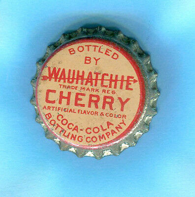 WAUHATCHIE CHERRY SODA  BOTTLE CAP by COCA COLA CO. of CHATTANOOGA, TENNESSEE