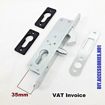 35 mm HOOK LOCK NARROW FOR SLIDING DOOR GATE  EURO CYLINDER CASE MORTICE SASH