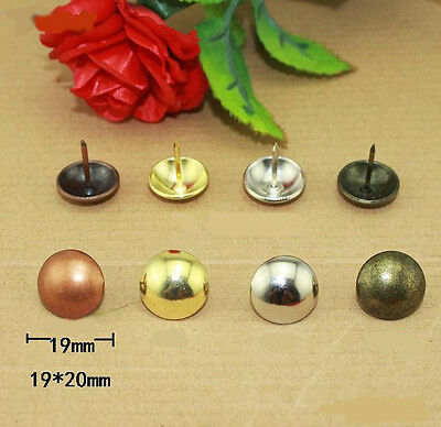 Lots of 10-100pcs Upholstery Nails Tacks Studs Rivets Furniture 5 Colors 19*20MM
