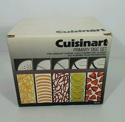 UNUSED CUISINART PRIMARY 5-DISC SET for CUSTOM 11/DLC-8 & DLC-10 FOOD PROCESSORS