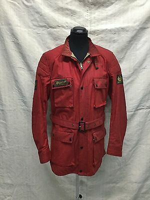 L XL Vtg Belstaff Trialmaster Waxed Jacket Red Vtg Belstaff Trialmaster Sz 48 UK