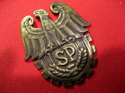 Poland Polish SP Cap Badge SP Paramilitary Assoc-n