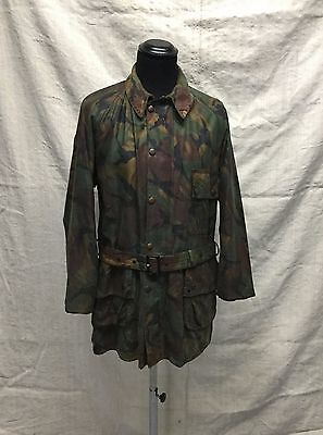Vtg Barbour Camouflage Waxed Jacket Vtg Barbour Camo Royal Marines Commando