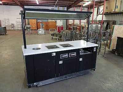 Custom Cooking Cart Station on Casters with Vollrath Induction Burners and Sink