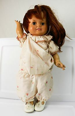 """Vintage 21"""" Baby Girl Doll Toy Vintage Growing Red Hair CRISSY Ideal Toy 1972"""