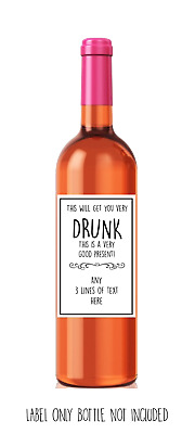 Funny, cute, rude, sarcastic,WINE LABEL.Birthday/Secret Santa/ Gift PERSONALISED