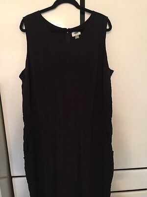 28ec6f23f7a GS LOVE WOMEN S Ruffle Side Jumpsuit 3X Black NWT -  24.61