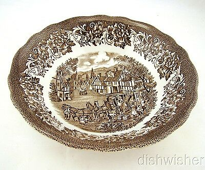 """J & G Meakin Royal Staffordshire STRATFORD STAGE BROWN Cereal Bowl(s) 6 1/2"""" EXC"""
