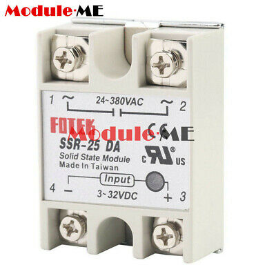 Solid State Relay Alloy Heat Sink SSR-25DA SSR-40DA SSR-60DA 25A/40A/60A 250V UK