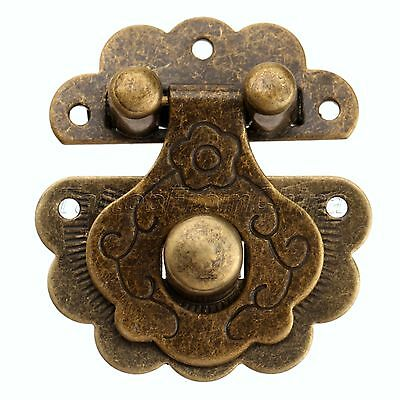 Europe Vintage Style Jewelry Box Latch Hasp Decor Chest Case Cabinet Lock Clasps
