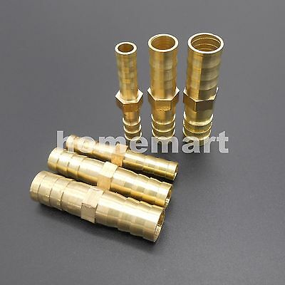 Straight Brass Copper Pipe Hose Barbed tube fitting Connector 6mm 8mm 10mm 12mm