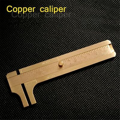 Mini Brass Sliding Gauge Vernier Caliper Measure Measurement Tool For Pocket