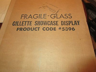 """Gillette ,Counter Top Display Unit , 18"""" X 151/2"""" X 41/2"""" , New In Box , Vintage"""