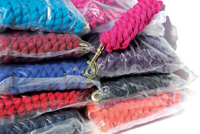 Pack of 10 Rhinegold Thick Cotton Lead Ropes Twin Colours