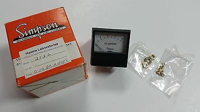 Simpson Model 2122 0-10 A Amps DC Panel Meter, New In Box