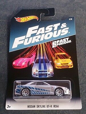 Hot Wheels Nissan Skyline Gtr R34 Fast And Furious Jdm