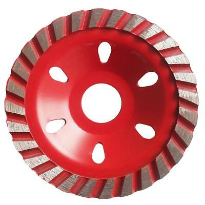 """4"""" Grinding Wheel Concrete Cup Disc 4inch Alloy Circle Granite 100mm Red"""