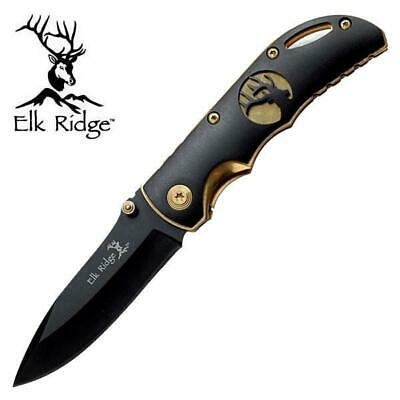 NEW War Sword Elk Ridge Two Tone Gold Folding/Pocket Knife