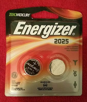 FRESH Energizer CR2025 3V Lithium Coin Cell Batteries - 2-Pack