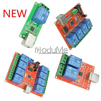 5V/12V USB Relay 1/2/4/8 Ch Programmable Computer Control Relay For Smart Home M