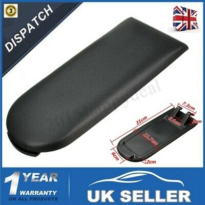 Black Arm Rest Center Console Armrest Cover Lid For VW Golf Jetta Bora MK4 99-04