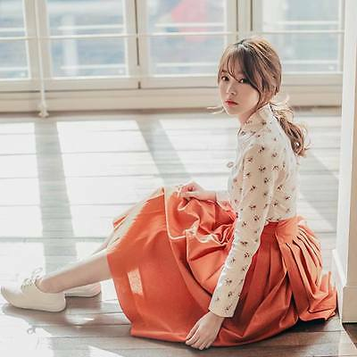 Hanbok Traditional Korean Dress (scarlet) Bridesmaid Evening Formal Party Dress