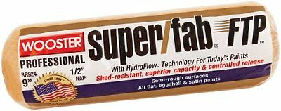 Wooster Brush RR924-9 Inch Super Fab FTP Roller Cover, 1/2-Inch Nap