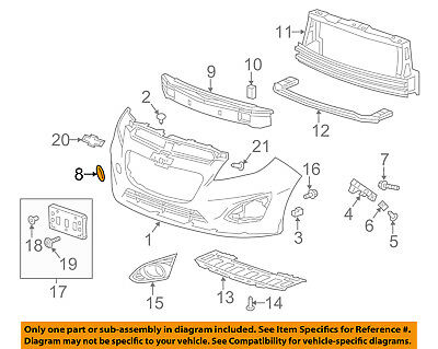 Buick GM OEM 13-16 Encore Front Bumper-Tow Hook Eye Cover 95076897