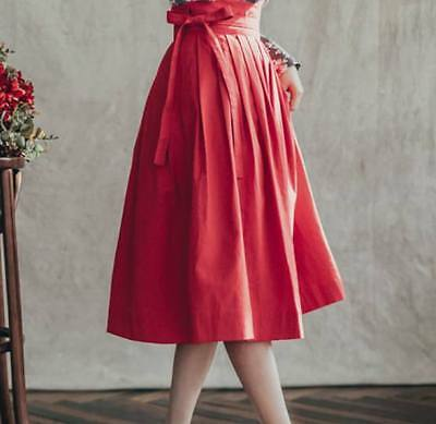 Hanbok Traditional Korean Dress * ONLY SKIRT ( Rose Red ) free size