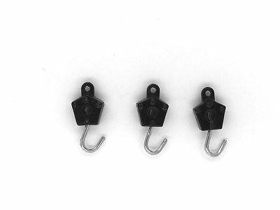 Dinky-Spares | Dinky 430 Commer | 661 Scammall | 3 x Painted Hooks White Metal