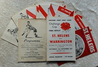 St Helens Rugby League Home Programmes 1960s & 1970s