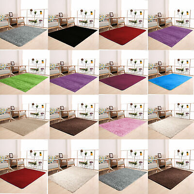 Small Large Modern Shaggy Area Rugs Mat Thick Soft Pile Carpet Rug Runner New