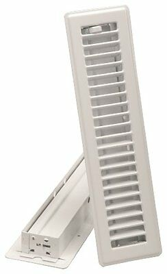 Imperial Manufacturing RG0179 2.25-Inch by 12-Inch Floor Register, White