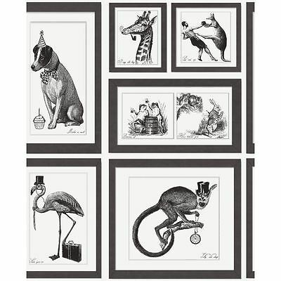 Holden Decor Mad Dogs Animal Picture Frame Retro Vintage Wallpaper 97920 Roll