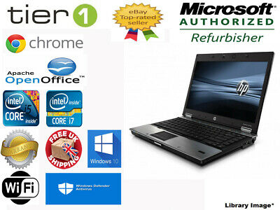 HP EliteBook 8440p Intel i5/i7 4GB RAM 250-1TB HDD Win 7/10 Laptop DVD WebCam