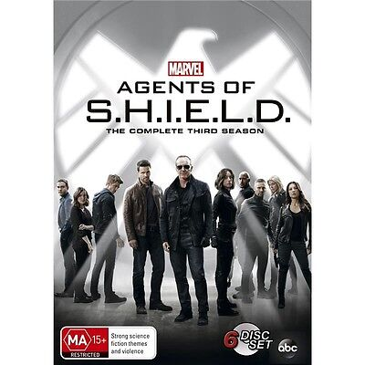 AGENTS OF S.H.I.E.L.D.-Season 3-Region 4-New AND Sealed-6 DVD Set-TV Series