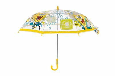 Kids Umbrella Folding Child Brolley School Rain Sponge Bob Boy Girl Gift Toy New