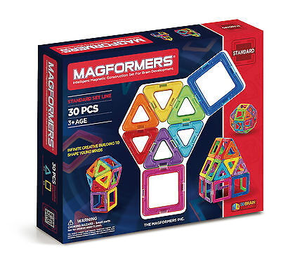 NEW! Genuine Original Magformers 30 Shapes 3D Brain Development Set 30-pieces Ed