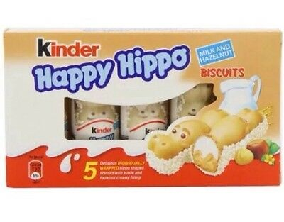 Kinder Happy Hippo 50 Bar. 10 Pack 5 Bar/ Pack.Easter Gifts .chocolate Box
