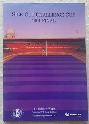 St Helens V Wigan 1991 Rugby League Cup Final Programme