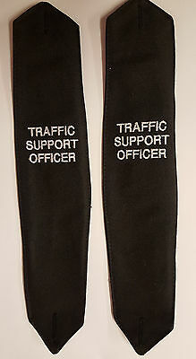 2 Sets x Traffic Support Officer Epaulettes Button Down 2 Pairs Supplied (E2)