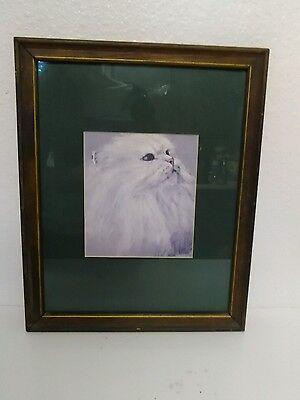 "12"" x 15"" Framed Cat Picture"