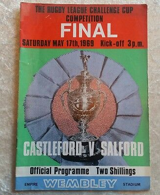 Rugby League Challenge Cup Final Programme May 17th 1969 Castleford v Salford