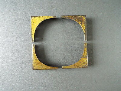 Set of 4 antique or vintage writing slope or box brass corners spares parts